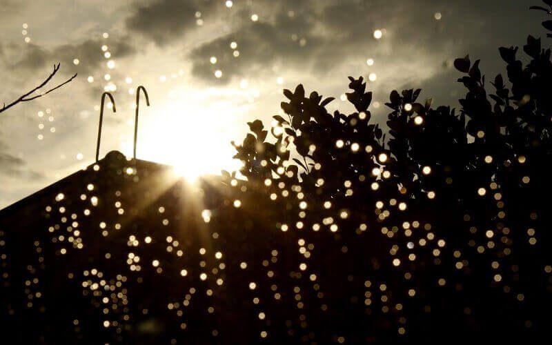 عکس نوشته هوای بارانی