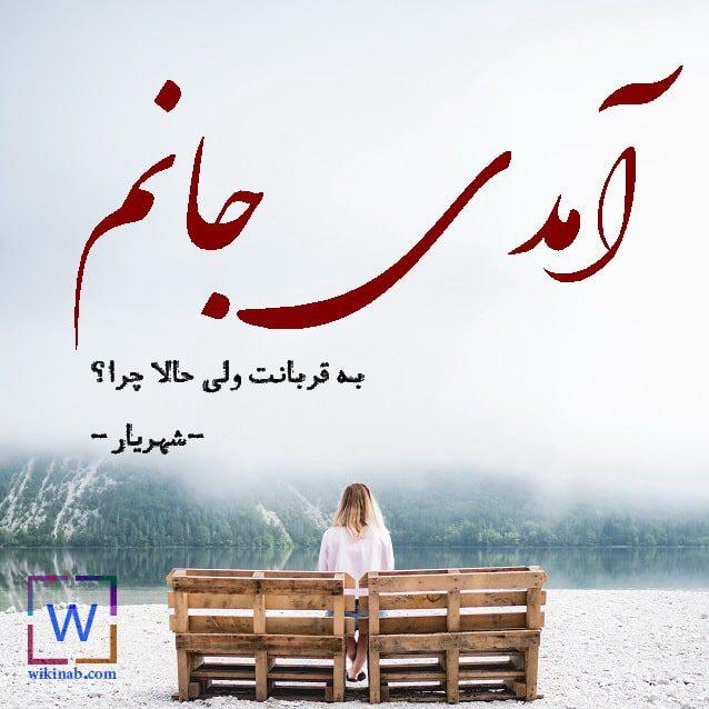 عکس نوشته پر معنی شهریار